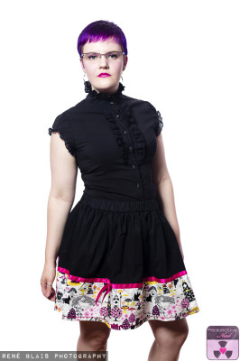 JAPANESE ALICE BLACK BOARDER SKIRT
